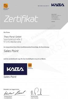 Kaba Zertifikat